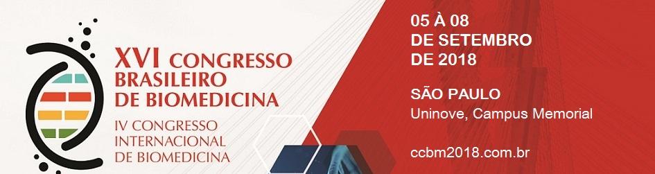 XVI CONGRESSO BRASILEIRO DE BIOMEDICINA